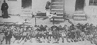 Talaat Pasha - Corpses of massacred Armenians, 1918
