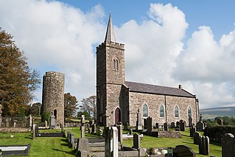 Armoy, County Antrim - Image: Armoy Round Tower and Church 2014 09 15
