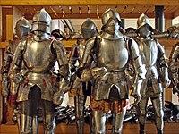 Armures, réserves du musée de l'Armée, Paris 2010.jpg