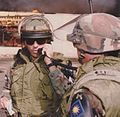Army officer on radio, 1992.jpg
