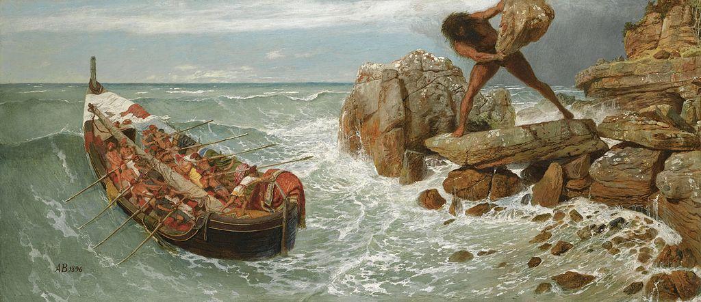 Odysseus and Polyphemus--Arnold Böcklin, 1896