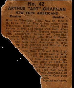 Art Chapman - Image: Art Chapman 1937All Star Game Back