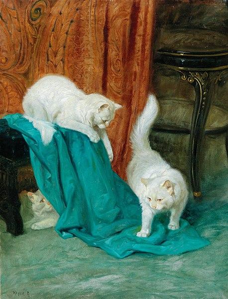 File:Arthur Heyer - Cats Playing.jpg