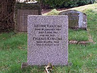 Arthur Ransome's Grave, Rusland Church. - geograph.org.uk - 1184478.jpg