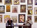 Artists V. Basanets and V. Maryniuk at a conference 2013.jpg