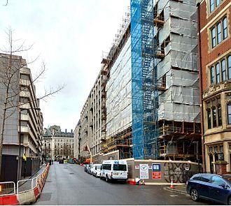 190 Strand - 190 Strand (right) under construction from Arundel Street.
