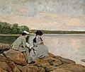 Arvid Liljelund - Kahden rannalla - A IV 3630 - Finnish National Gallery.jpg