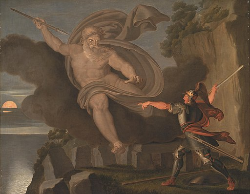 Asmus Jacob Carstens - Fingal´s Battle with the Spirit of Loda - KMS607 - Statens Museum for Kunst