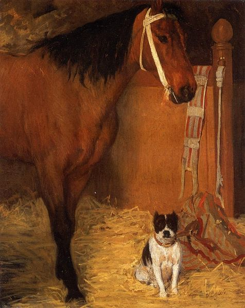 File:At the Stables, Horse and Dog.jpg