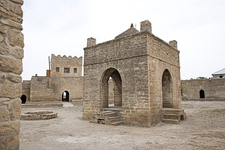 Ateshgah of Baku Fire Temple in Azerbaijan
