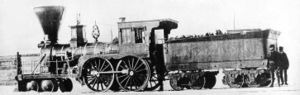4-4-0 - Short wheelbased Atlantic and St. Lawrence Railroad Coos, c. 1856, Longueuil, Quebec