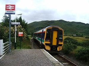 Attadale railway station - Image: Attadalestation