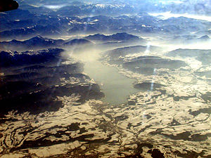 Attersee (lake) - Aerial view, from the north