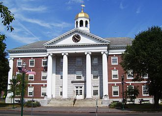 Colonial Revival architecture - Memorial City Hall, Auburn, New York, built in 1929–1930 in the Colonial Revival style