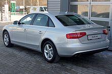 Audi A4 B8 Facelift Limousine Ambiente 1.8 TFSI multitronic Eissilber Heck.JPG