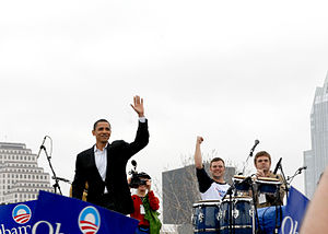 United States presidential candidate Barack Ob...
