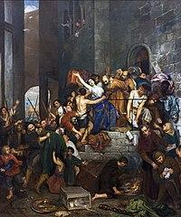 Pillage d'une maison dans le judecca de Venise au Moyen Âge