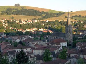 Aurillac - The church of Saint-Géraud and surrounding buildings, in Aurillac