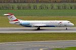 Austrian Airlines, OE-LVK, Fokker F100 (22644598717).jpg