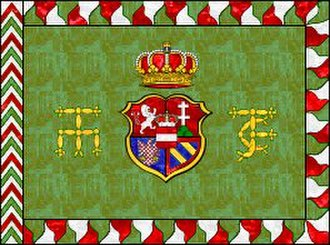 Imperial Army (Holy Roman Empire) - The Royal Hungarian flag of the Habsburg troops. The imperial eagle was not allowed to be used from 1743. Project Kronoskaf