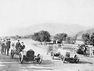 Lakeside, California - Automobile track in Lakeside, 1908