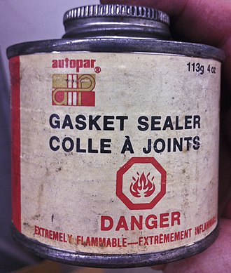 History of Chrysler - A tin of AutoPar-branded gasket sealer from the 1980s
