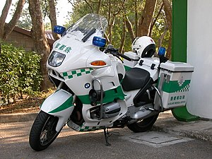 Auxiliary Medical Service - An ambulance motorcycle of AMS