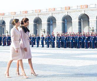 Queen Letizia of Spain - Queen Letizia alongside Juliana Awada, First Lady of Argentina, in 2017.