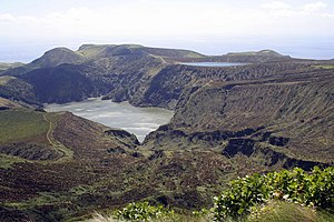 Santa Cruz das Flores - The twin lakes of Lagoa Funda and Lagoa Rasa, located in the central part of the municipality, and part of the Caldeira Funda Natural Forest Reserve