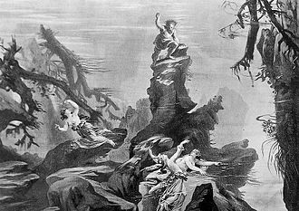 Das Rheingold - Alberich's seizure of the Rhine gold, as depicted in Scene 1 of the 1876 production
