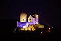 Będziński zamek nocą..jpg