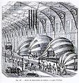 B21496626 0005 0633 Les merveilles de la science Inventions scientifiques dupuis 1870 Supplément au aérostats. Atelier de construction des ballons, à la gare d'Orléans 1870 Illustration (contrasts).jpg