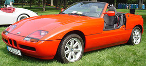 Sliding door (car) - A BMW Z1 with its doors open