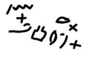 A specimen of Proto-Sinaitic script, one of the earliest (if not the very first) phonemic scripts