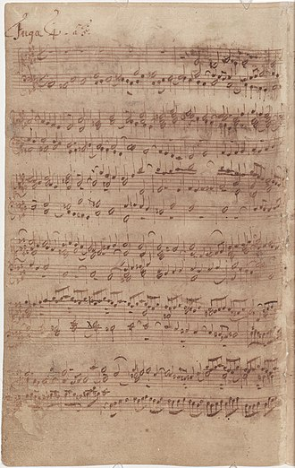 The Well-Tempered Clavier - Bach's autograph of the 4th Fugue of Book I