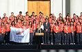 Bachelet y Team Chile Odesur 2014.jpg