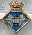 Badge of HMS Glow-worm.JPG