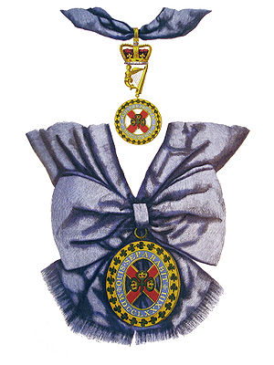 St. Patrick's blue - Badge of the Order of St Patrick.