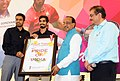 Badminton Player Srikanth Kidambi along with Pullela Gopichand calling on the Minister of State for Youth Affairs and Sports (IC), Water Resources, River Development and Ganga Rejuvenation, Shri Vijay Goel, in New Delhi (1).jpg