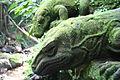 Bali Indonesia Ubud Monkey Forest reptile statue.JPG