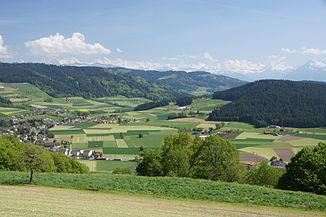 View of the Kiesental to Konolfingen