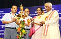 Bandaru Dattatreya lighting the lamp at the presentation function of the Vishwakarma Rashtriya Puraskar and National Safety Award (performance year 2014), in New Delhi.jpg