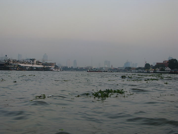 Bangkok 08 - 27 - sunset over the river (3167080360).jpg