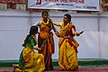 Bangladesh Udichi Shilpigoshthi - Chittagong University Sangsad celebrating Pohela Falgun 1423 at CU Muktomoncho (04).jpg