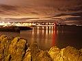 Bangor Bay at night - geograph.org.uk - 1732137.jpg