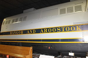 Cole Land Transportation Museum - Image: Bangor and Aroostook Railroad, Bangor, ME IMG 2511