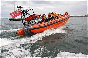 RNLI Atlantic 85 B-805 on exercise in Bangor