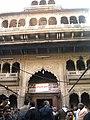 Bankebihari temple main gate Vrindavan.JPG