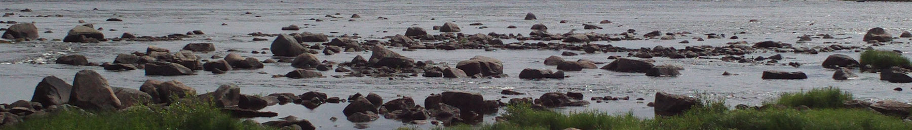 Stones in Tornio river at Kukkolankoski rapids