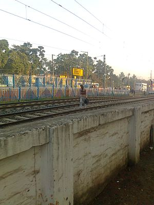 Barasat Junction railway station - Image: Barasat Rail Truck
